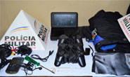 Polícia Militar prende jovem com vários materiais de furto