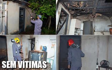 Casa pega fogo no São Geraldo