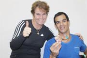 Assessora de Esportes recebe medalhista paraolímpico