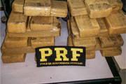PRF apreende cerca de 20 quilos de maconha na BR-262