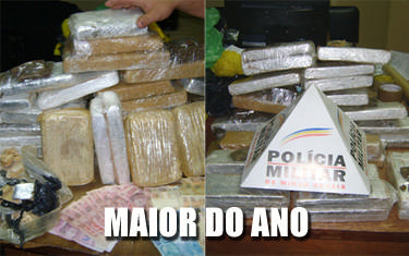 PM apreende 20kg de drogas no Domingos Zema