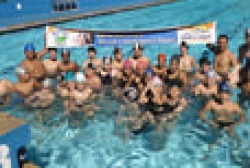 Mergulho Sport Center bate recorde de participantes da maior aula de natação do mundo