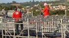 Começa a montagem das arquibancadas e camarotes da Expoaraxá 2012