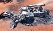 PM localiza moto furtada carbonizada no São Geraldo