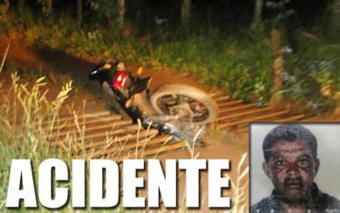 Motociclista morre ao tentar passar por mata-burro