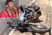 Mototaxista é agredido e tem a sua moto queimada