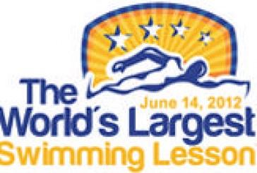 Mergulho participa da maior aula de natação do mundo