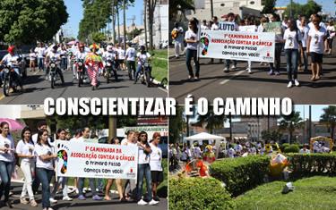 Associação faz caminhada de conscientização contra o câncer