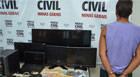 Polícia Civil prende homem com 1,5 kg de maconha e eletrônicos de procedência duvidosa