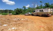 PM de Ibiá comparece a local onde resíduos hospitalares estavam jogados em meio a lixo urbano