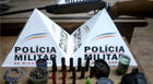 PM prende envolvidos com arma e diversos materiais ilícitos