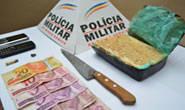 PM prende e apreende indivíduos com mais de 800 gramas de crack
