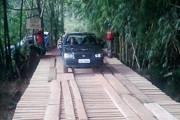 Secretaria de Desenvolvimento Rural recupera estrutura da Ponte Queimada