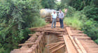 Ponte de acesso à Argenita é interditada