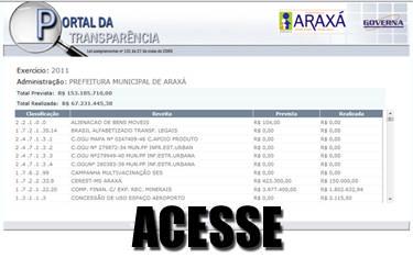 Prefeitura de Araxá cumpre prazo de implantação do Portal da Transparência