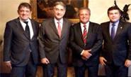 Prefeito, deputado e secretário se reúnem com o governador