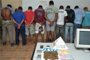 PM prende nove envolvidos com o tráfico de drogas