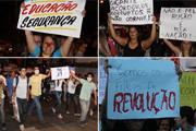 Manifestantes fazem valer a democracia em Araxá