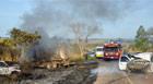 Incêndio às margens da BR-452 causa acidentes envolvendo oito veículos