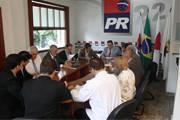 Reunião com vice-governador e presidente de partidos