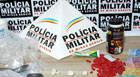 PM prende suspeito de tráfico no bairro São Geraldo