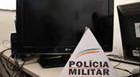 Mãe e filho são detidos por receptação de TV furtada