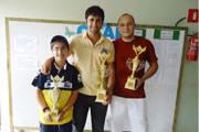Vítor é 3° colocado no Aberto de Xadrez de Monte Carmelo