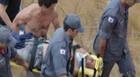 Piloto de parapente atinge membro da equipe de resgate durante decolagem