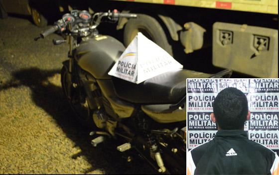 Homem é preso com moto furtada