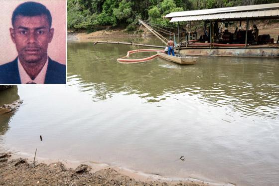 Vítima de afogamento no Rio Quebra Anzol