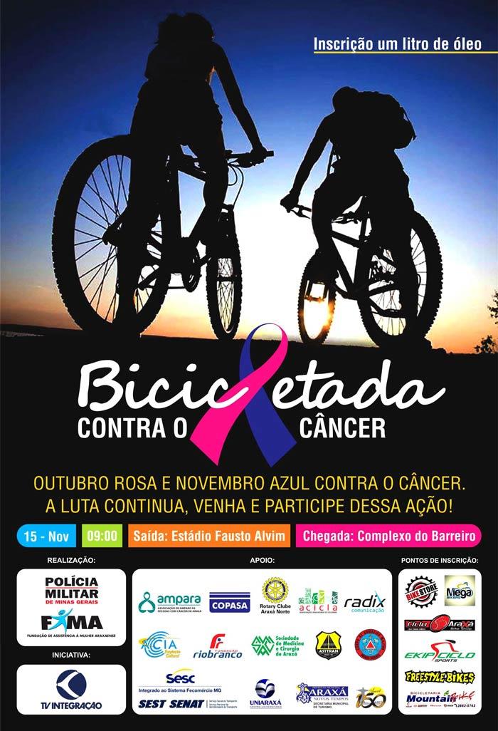 Polícia Militar e FAMA realizam 'Bicicletada contra o câncer'