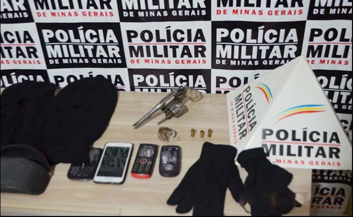 Policia Militar prende e apreende dois homens com arma de fogo