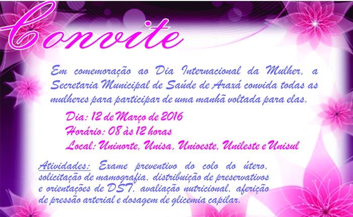 Secretaria de Saúde comemora o Dia Internacional da Mulher com atividades nas unidades de saúde