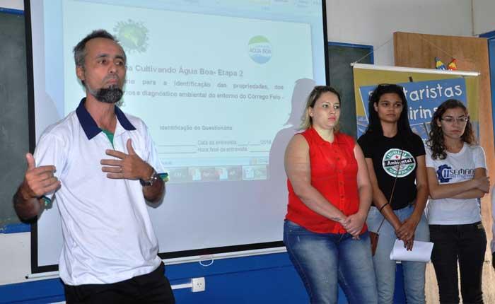 Projetos Cultivando Água Boa e Sanitaristas Mirins são apresentados em Araxá
