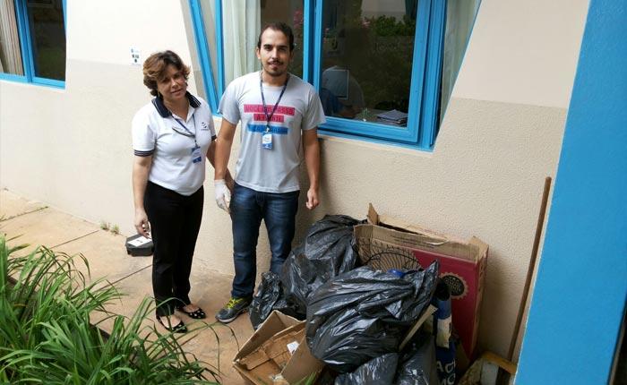 Colaboradores se mobilizam com patrulhas contra o mosquito da Dengue no Uniaraxá