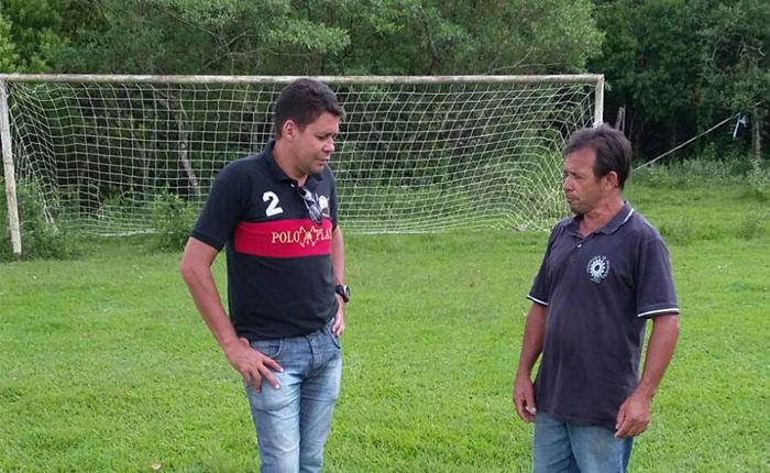 Assessoria de Esportes vistoria campos que vão receber os jogos do Ruralão