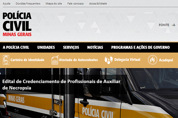 Novo site da Polícia Civil simplifica o acesso a serviços e informações