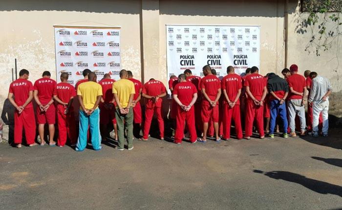 Polícias Civil e Militar apresentam suspeitos de crimes em Araxá
