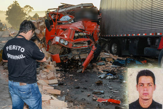 Acidente entre caminhão e carreta mata motorista de 36 anos