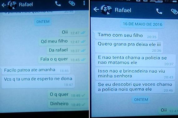 Mensagens mostram como filho tentou extorquir a mãe