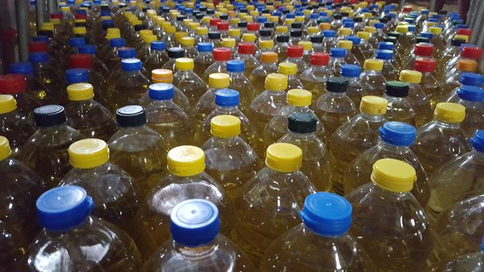 Litros de óleo arrecadados