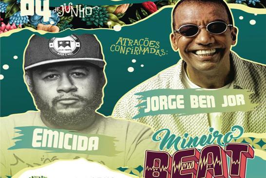 Uberlândia recebe festival com shows de Emicida e Jorge Ben Jor