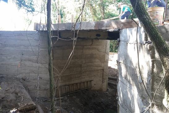 Ponte de concreto é construída para melhorar o acesso entre Araxá e o Distrito da Argenita