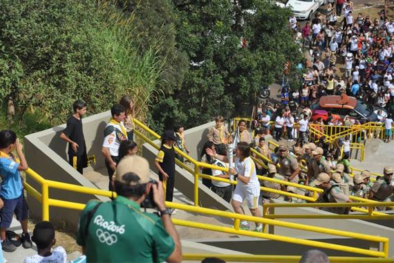 Dias das Mães especial em Araxá com o Revezamento da Tocha Olímpica
