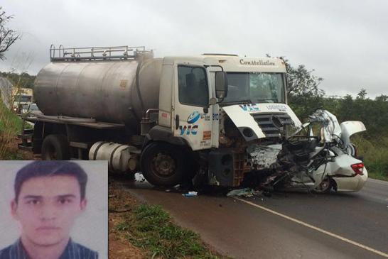 Jovem morre em acidente na BR-452