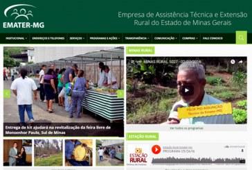 Emater-MG lança novo site com mais informações para ajudar produtores rurais