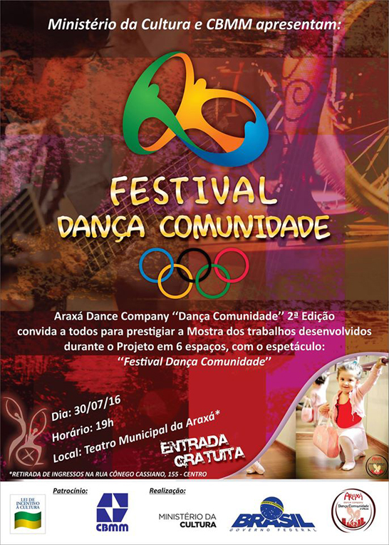 """Araxá Dance Company apresenta """"Festival Dança Comunidade"""""""