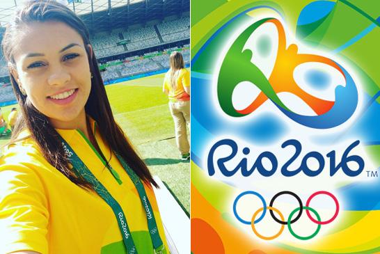 Acadêmica de Educação Física do Uniaraxá é voluntária nas Olimpíadas Rio 2016