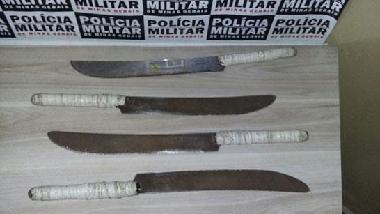 Polícia Militar de Araxá prende e apreende rapaz por porte ilegal de arma branca