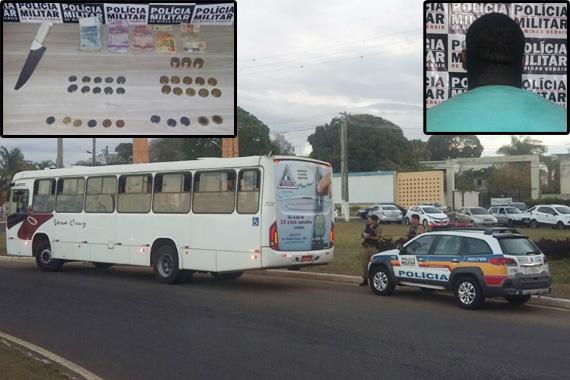 Homem que assaltou ônibus é preso pela polícia